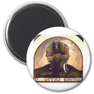 troll-clipart-4 6 cm round magnet