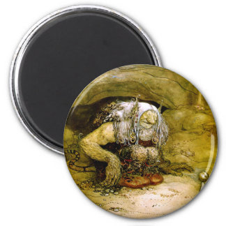 troll-clipart-5 6 cm round magnet