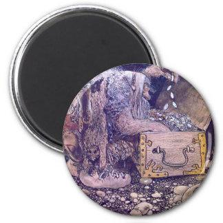 troll-clipart-6 6 cm round magnet