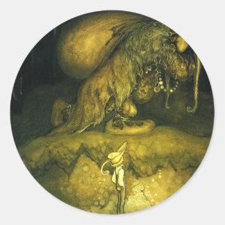 troll-clipart-8 round sticker