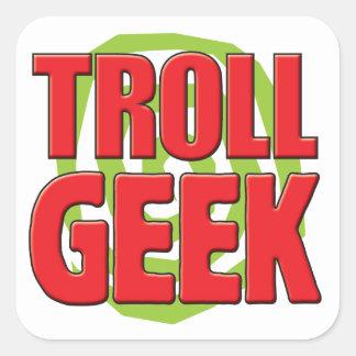 Troll Geek Square Sticker