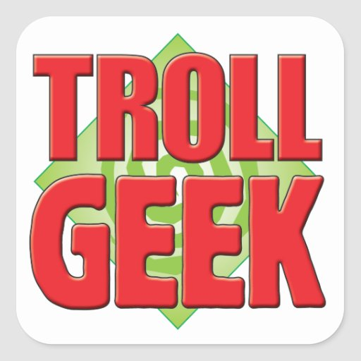 Troll Geek v2 Square Sticker