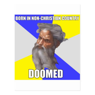 Troll God Doomed Post Cards