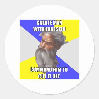 Troll God Foreskin Round Sticker