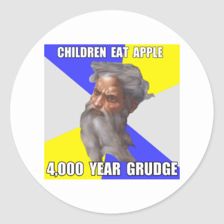 Troll God Grudge Round Sticker