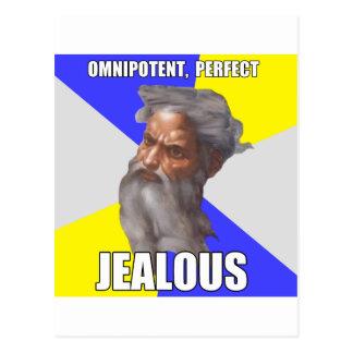 Troll God Jealous Postcard