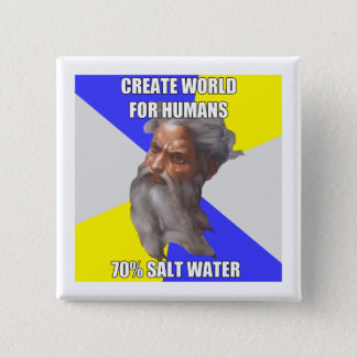 Troll God Saltwater 15 Cm Square Badge