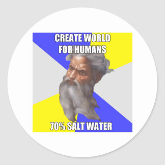 Troll God Saltwater Round Sticker