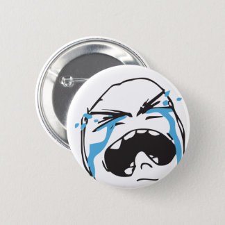 Troll Le Me Memes cryin Editable CHOOSE YOUR COLOR 6 Cm Round Badge