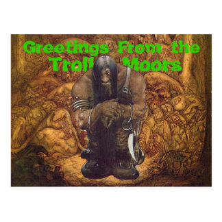 Troll Moors Greetings Postcard
