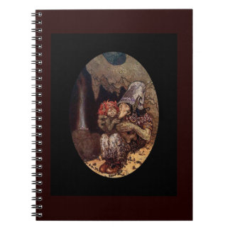Troll Mother and Child by Campfire Notebook
