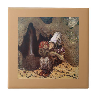 Troll Mother Beside a Campfire Small Square Tile