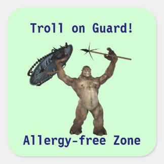Troll on Guard Square Sticker