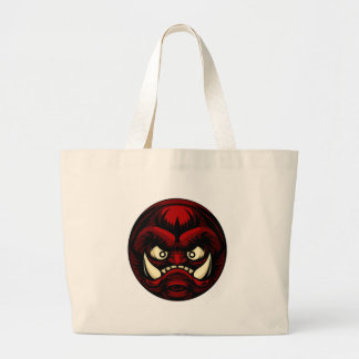 Troll or Monster Icon Emoticon Large Tote Bag
