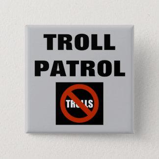 Troll Patrol 15 Cm Square Badge