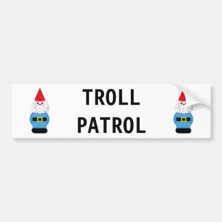 Troll Patrol Scandinavian Gnome Bumper Sticker