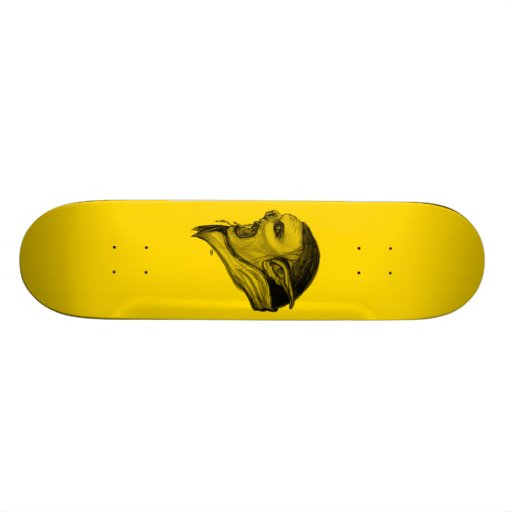 Troll pencil design skate board decks