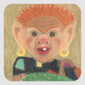 Troll Square Sticker