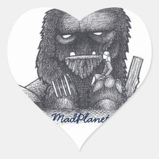 Troll Stump Drawing Heart Sticker