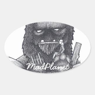 Troll Stump Drawing Oval Sticker