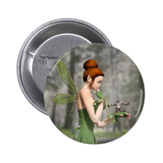 Troll Tells a Tall Tale 6 Cm Round Badge