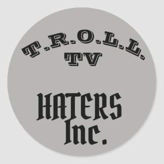 TROLL TV HATERS INC COLLAB STICKER