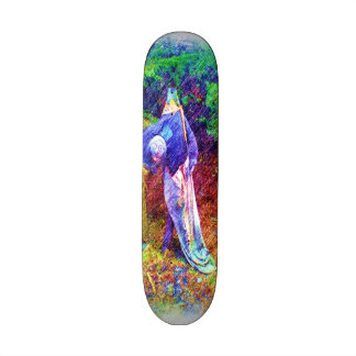 Troll with head under arm 21.3 cm mini skateboard deck