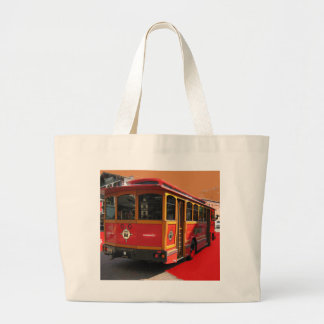 Trolley Bus Digitally Enhanced Photo Tote Bag