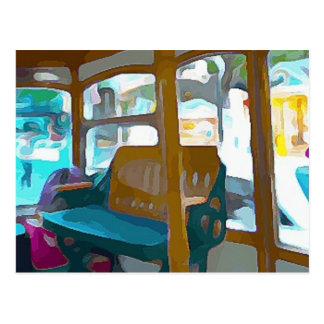 Trolley Ride in Key West Postcard