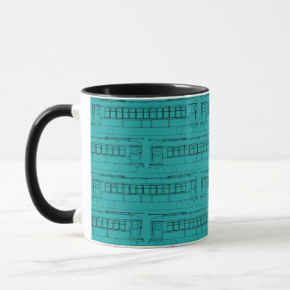 TROLLEY TRAIN CABLE CAR ELECTRIC TRAIN STREET CAR MUG