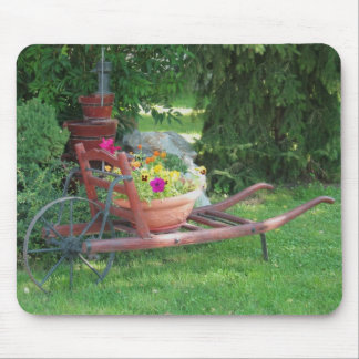 Trolley With Flowers Mouse Pad