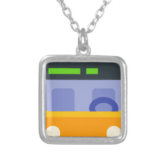 Trolleybus Silver Plated Necklace