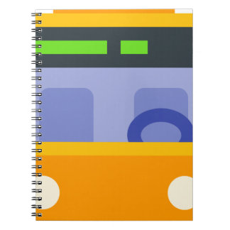 Trolleybus Spiral Notebook