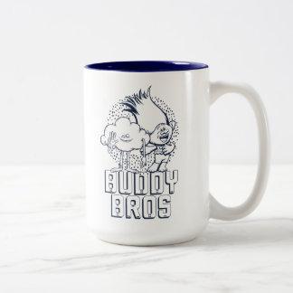 Trolls | Cloud Guy & Branch - Buddy Bros Two-Tone Coffee Mug