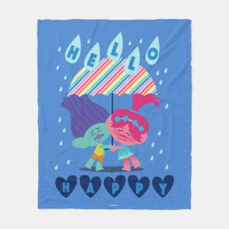 Trolls | Happy Rain Drops Fleece Blanket