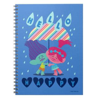 Trolls | Happy Rain Drops Notebook