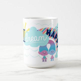 Trolls | I Dream Happy Rainbow Coffee Mug