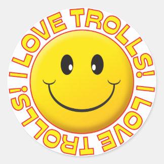 Trolls Love Smile Stickers