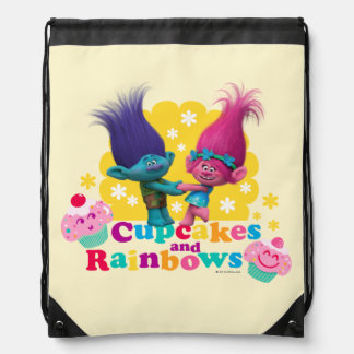 Trolls | Poppy & Branch - Cupcakes and Rainbows Drawstring Bag