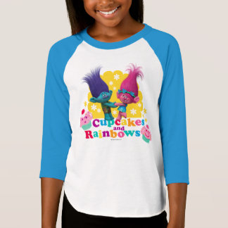 Trolls | Poppy & Branch - Cupcakes and Rainbows T-Shirt