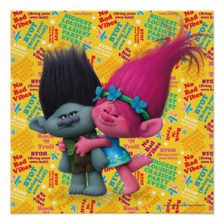Trolls | Poppy & Branch - No Bad Vibes Poster