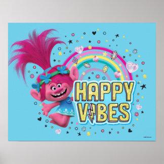 Trolls   Poppy Happy Vibes Poster