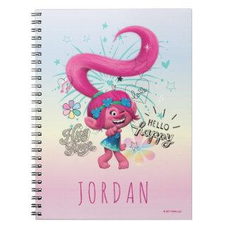 Trolls | Poppy Hello Happy Spiral Notebook