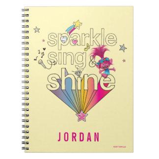 Trolls   Poppy's Sparkle Sing & Shine Notebook