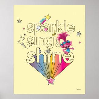Trolls | Poppy's Sparkle Sing & Shine Poster