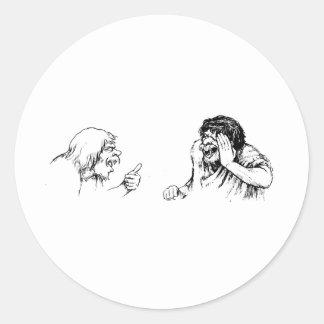 trolls round sticker