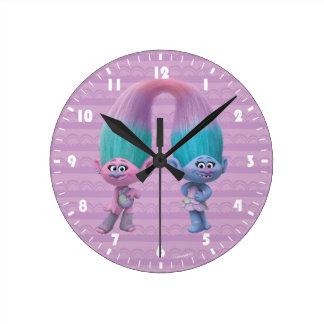 Trolls | Satin & Chenille Round Clock