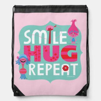 Trolls | Smile, Hug, Repeat Drawstring Bag