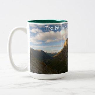 trollstigen, norway Two-Tone coffee mug