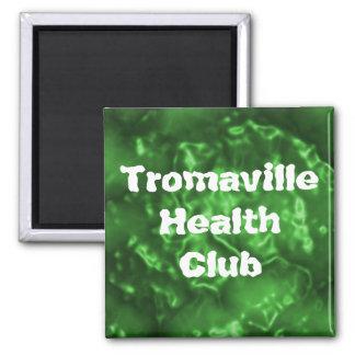 Tromaville Health Club Square Magnet